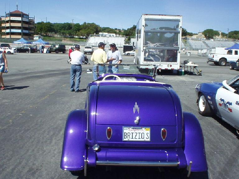 Roy Brizio brought one of his famed hot rods... but it didn't race.