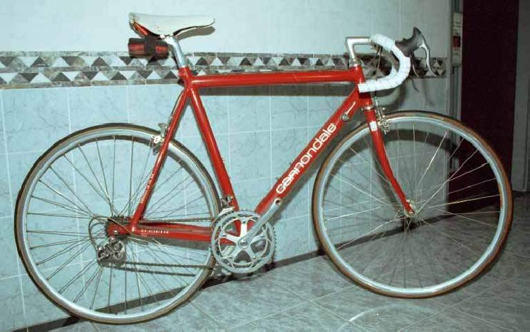 Lam Wing Kwong's 1992 Cannondale 3.0 with a mix of Campagnolo and Shimano 105 and 600 components.