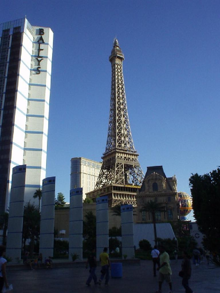 The Eiffel Tower was on top of a casino.  For shame!