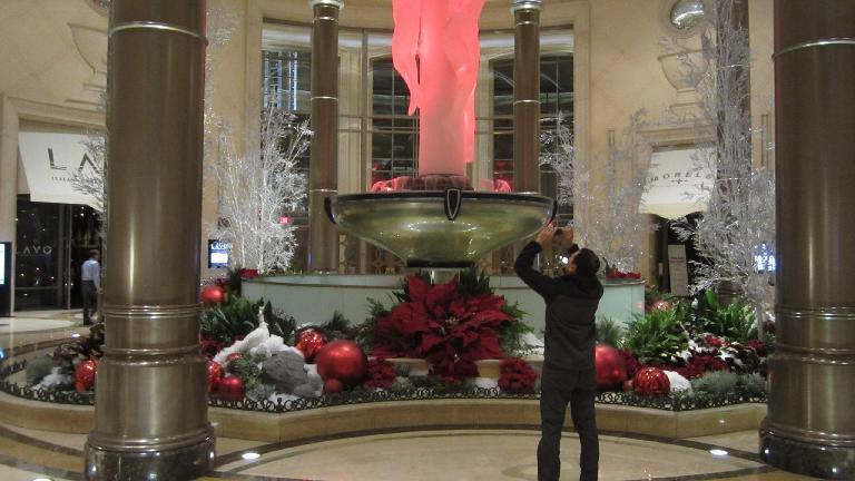 A holiday display inside Palazzo. (November 19, 2013)