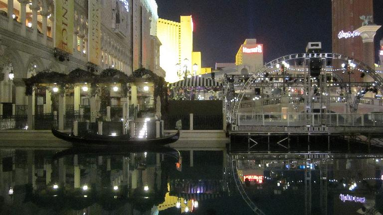Gondolas and Canals outside the Venetian. (November 19, 2013)