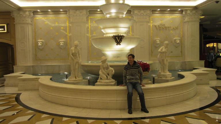 Felix Wong inside the Venetian. (November 19, 2013)