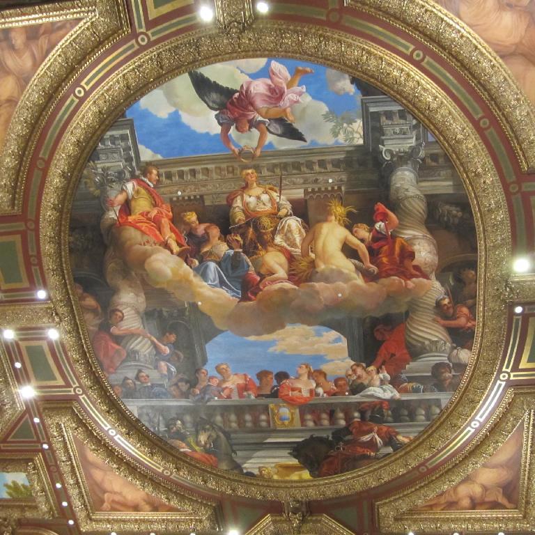 The Michelangelo-inspired ceilings of the Venetian. (November 19, 2013)