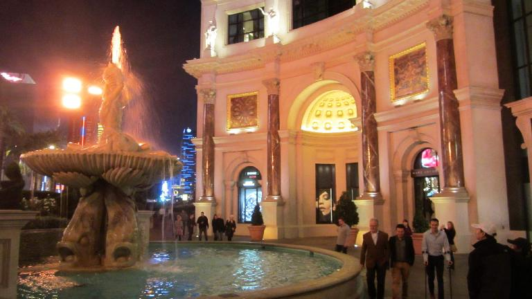A fountain outside Caesar's Palace. (November 19, 2013)