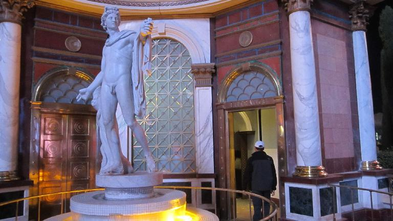 A Michelangelo-inspired statue at Caesar's Palace. (November 19, 2013)