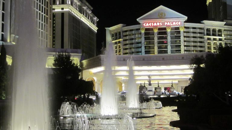 Fountains outside Caesar's Palace. (November 19, 2013)