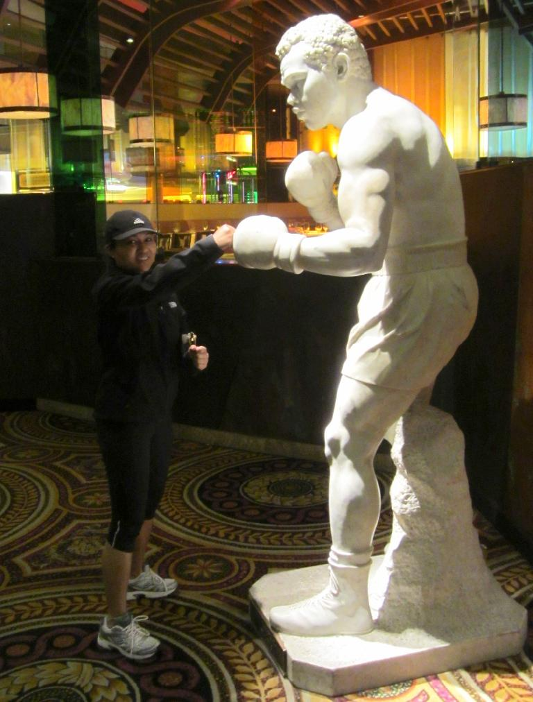 Sara with Muhammed Ali inside Mandalay Bay.
