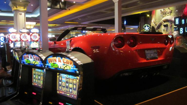 C6 Corvette inside the casino at Mandalay Bay.