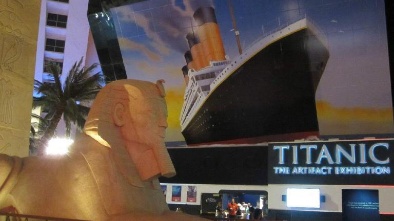 Titanic Artifact Exhibition inside the Luxor.