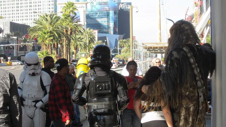 Star Wars characters were roaming the Strip.