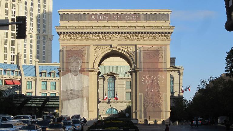 A faux Arc du Triomphe.