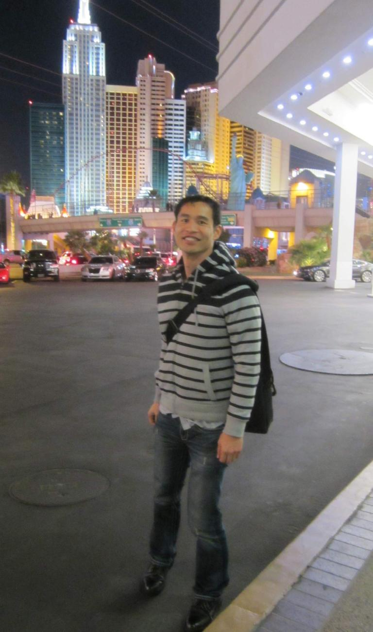Felix Wong at Tropicana across from New York-New York.