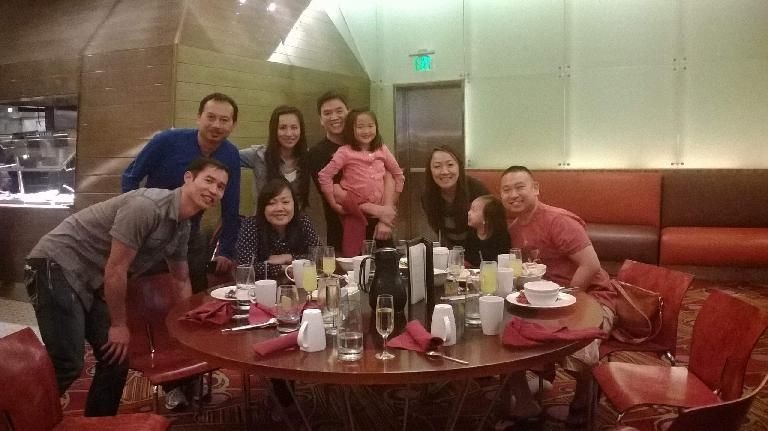 Felix, Bandy, and some high school alumni, including Hien and Thao's families.