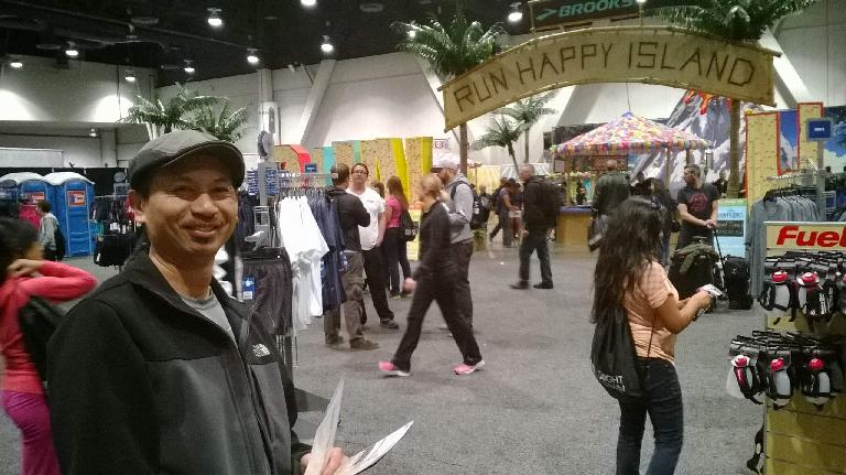 Bandy at the pre-race Health & Fitness Expo at the Las Vegas Convention Center. (November 16, 2013)