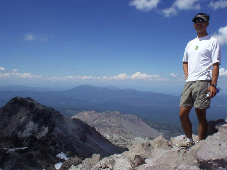 Felix Wong at the top, with the westerly view in the background.