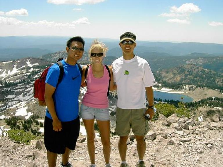 A final pic of the three of us.  I enjoyed hiking with the two of you, Jamie and Ryan! Photo: Ryan Peters.