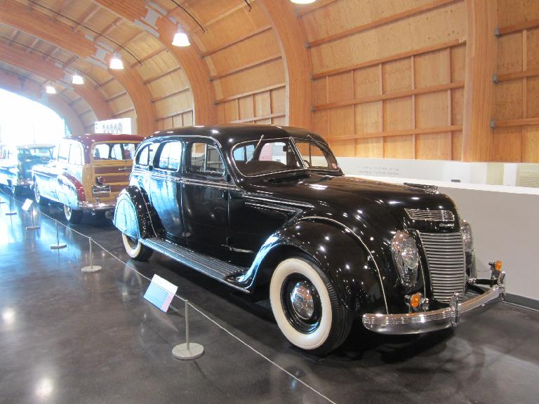 1937 Chrysler airflow: the first mass-production aerodynamic car.