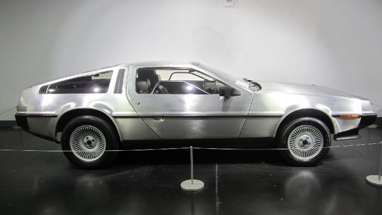 1983 DeLorean DMC-12 2-door gullwing with 5-speed manual transmission.