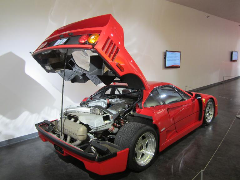 1991 Ferrari F40: first road legal production car capable of exceeding 200 miles per hour.
