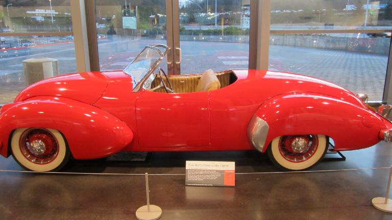 Kurtis Omohundro Comet, America's first post-war sports car. It was a one-off aluminum special.