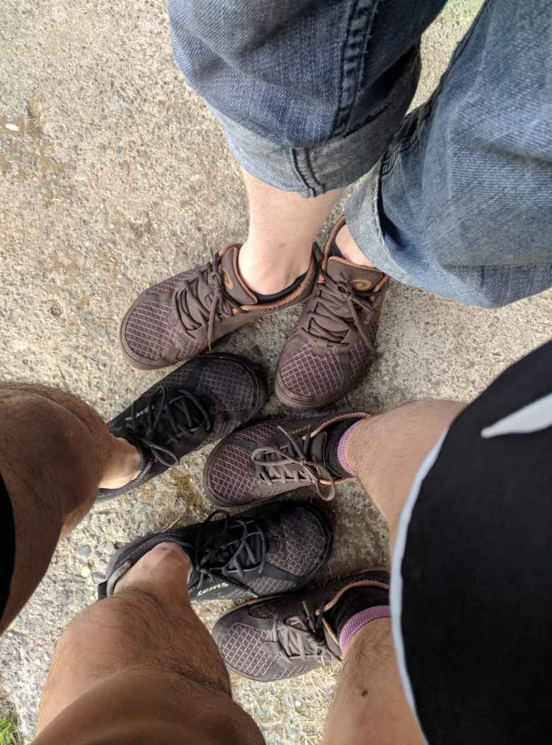 Erin, Felix, and Russ' Lems Primal 2 shoes.
