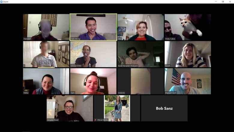 Participants in my virtual Spanish Conversation meetup.