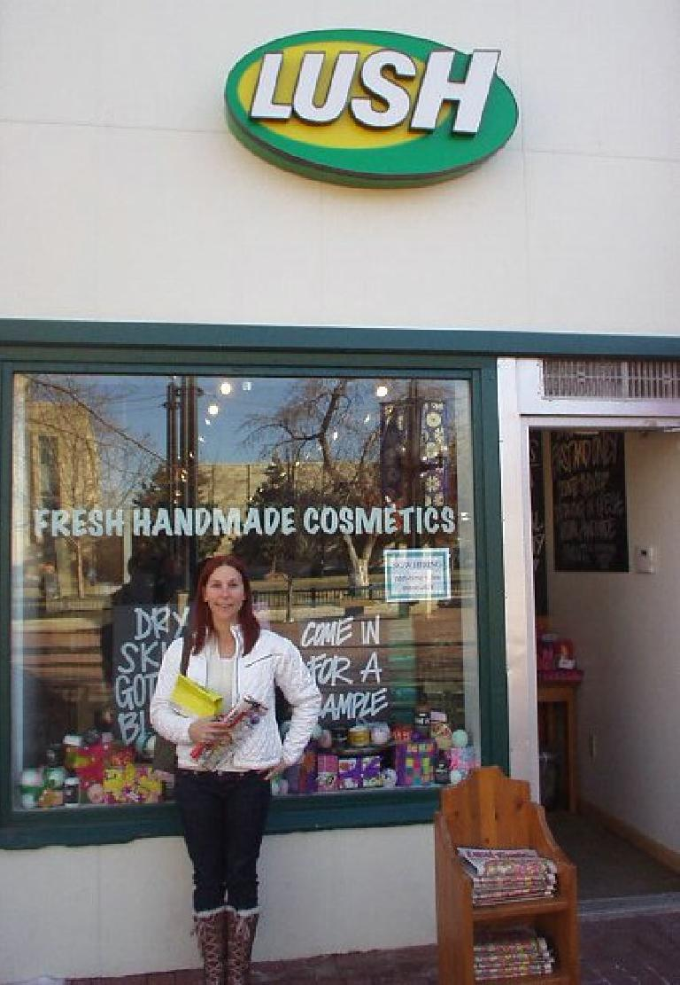 "Lisa made me go into this Lush ""Fresh Handmade Cosmetics"" store.  I came out with silky smooth hands."