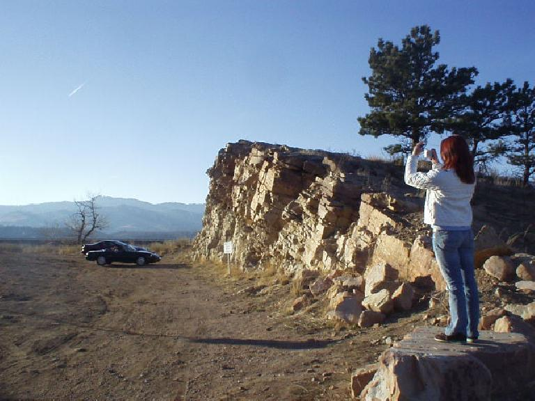 We arrive at a Horsetooth Mountain vista point towards the tail end of a splendid 60-mile drive around Rist Canyon. (February 25, 2006)