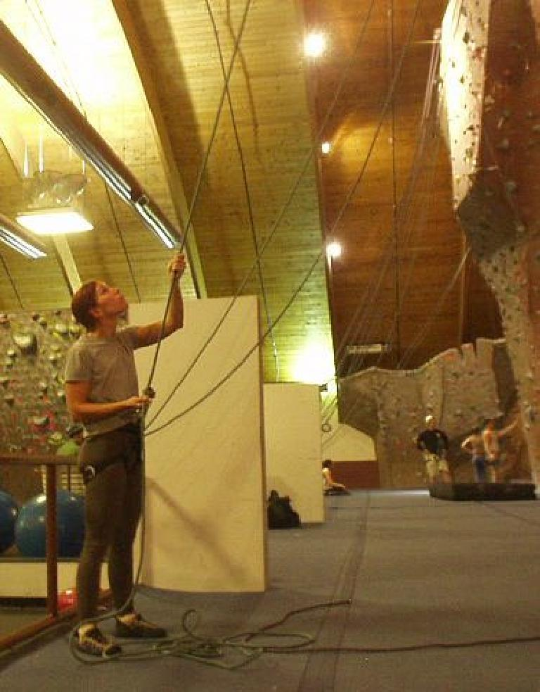 ... with Lisa belaying. (February 26, 2006)