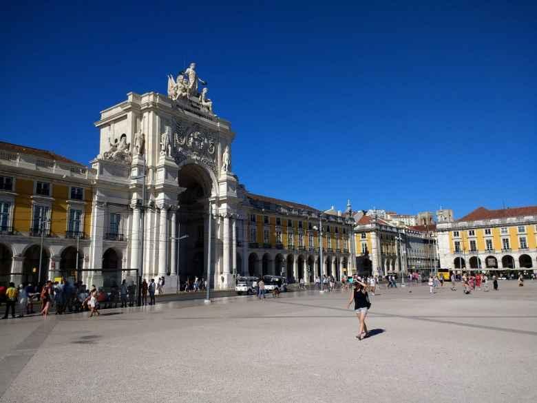 Praça da Municipio (City Hall Square) in Lisbon, Portgual.