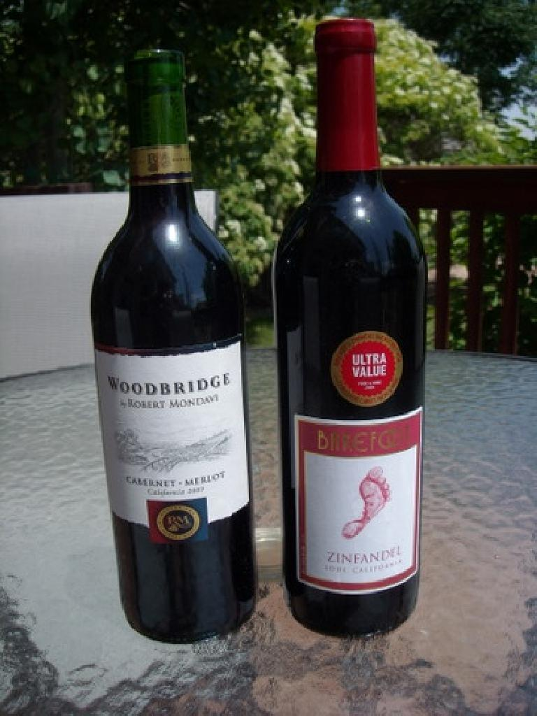 A couple of my favorite budget wines from Lodi: Woodbridge by Robert Mondavi and Barefoot Zinfandel.