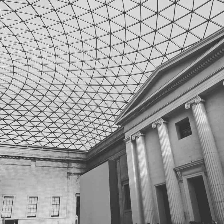 Inside the British Museum.