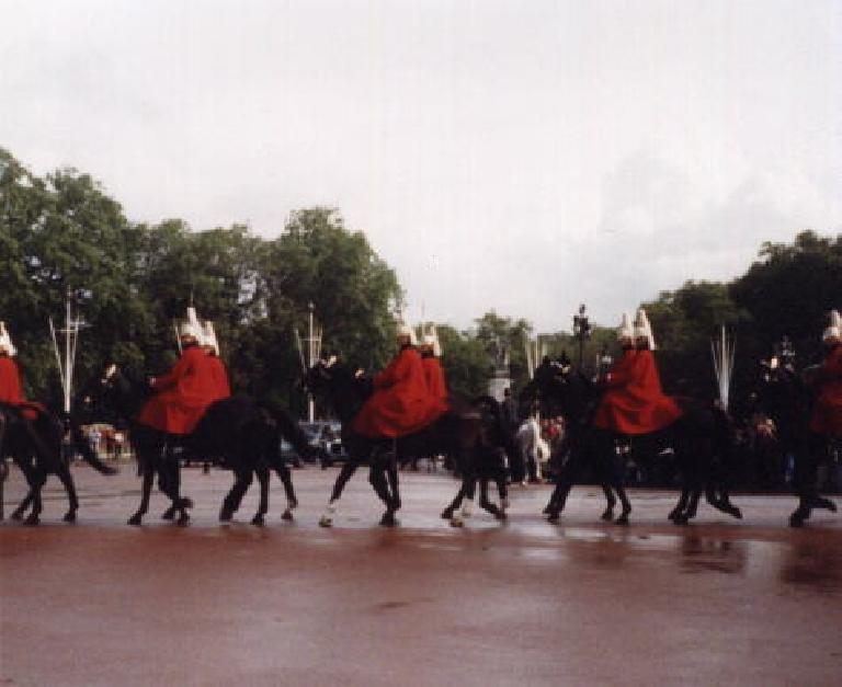 Marching band horses. (September 25, 1999)