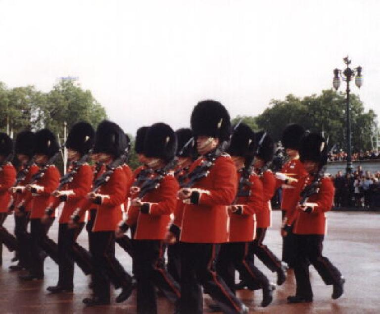 Changing of the guard at Buck's. (September 25, 1999)