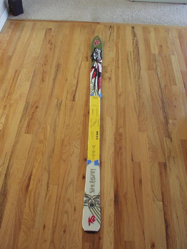 Desperate to salvage some of the last remaining days that Fort Collins would have any snow on the ground, I finally began mounting a used pair of Naxo NX01 bindings to some K2 Shuksan randone? skis.