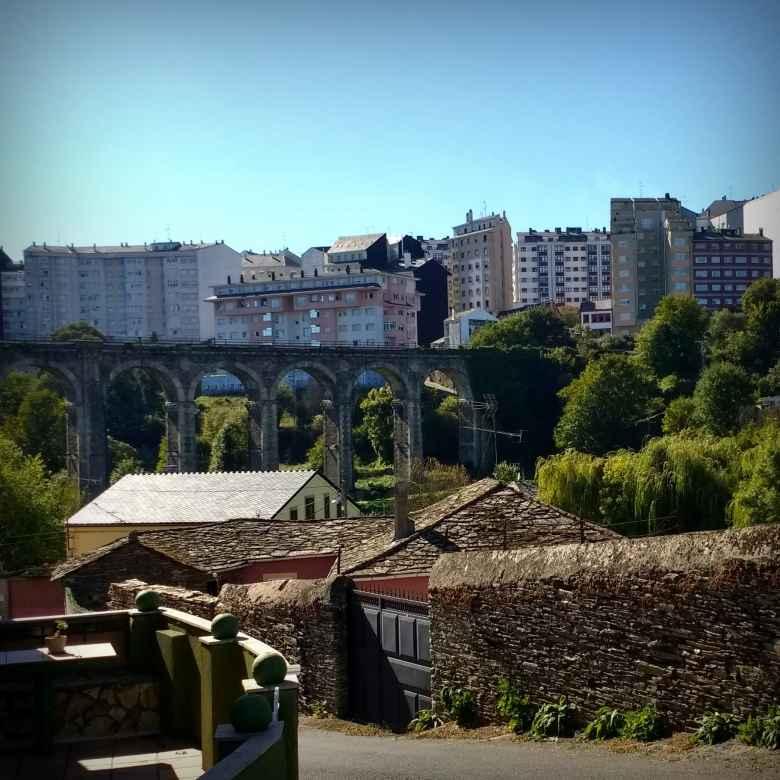 A Roman bridge in Lugo, Spain.