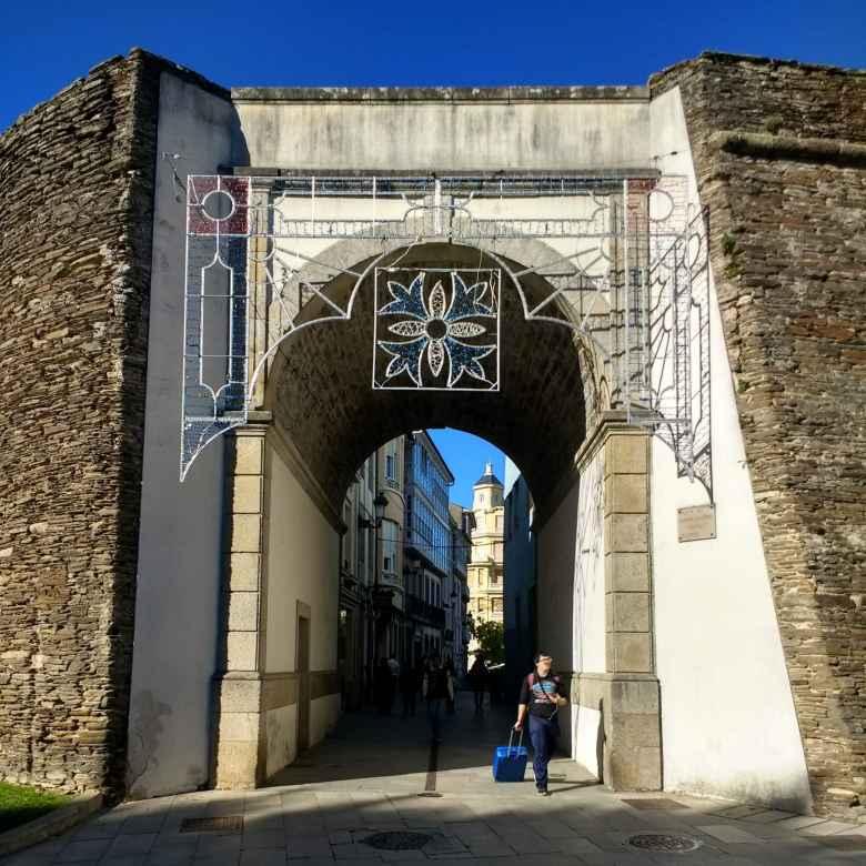 Entryway through a Roman Wall in Lugo, Spain.