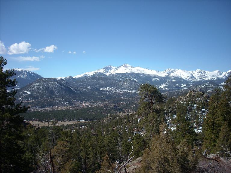 The mountains got a nice dumping of snow earlier in the week and it was evident from up here.