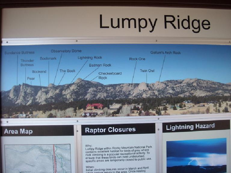 Overview of the Lumpy Ridge area.