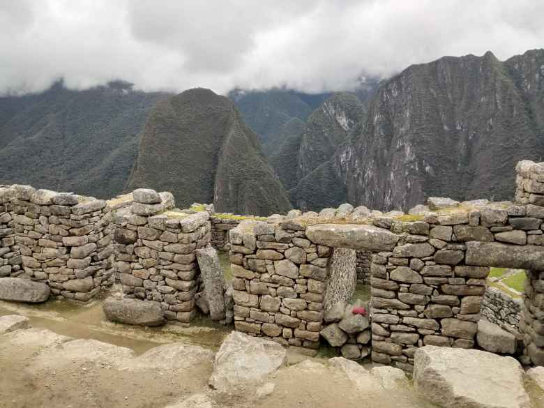 Stone wall at Machu Picchu.