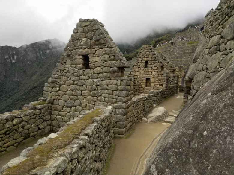 Walls with windows at Machu Picchu.