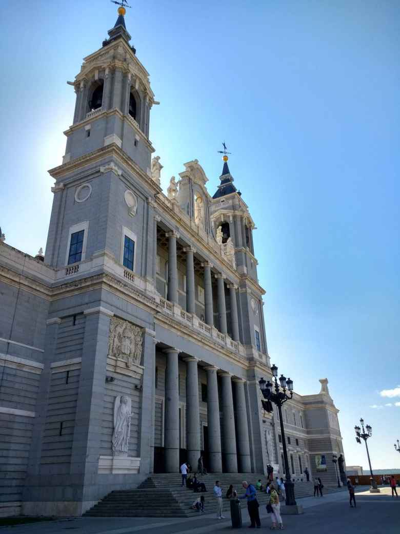 The north side of Catedral de la Almudrena in Madrid, Spain.