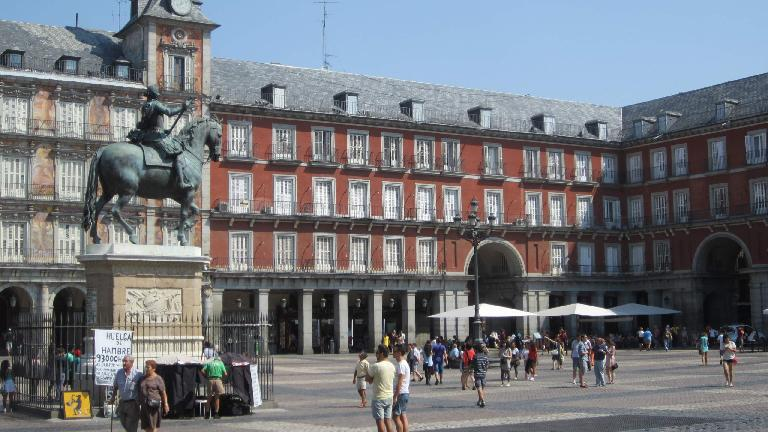 In la Plaza Mayor.