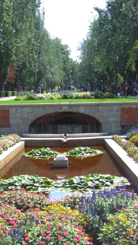 Gardens in el Parque del Retiro.