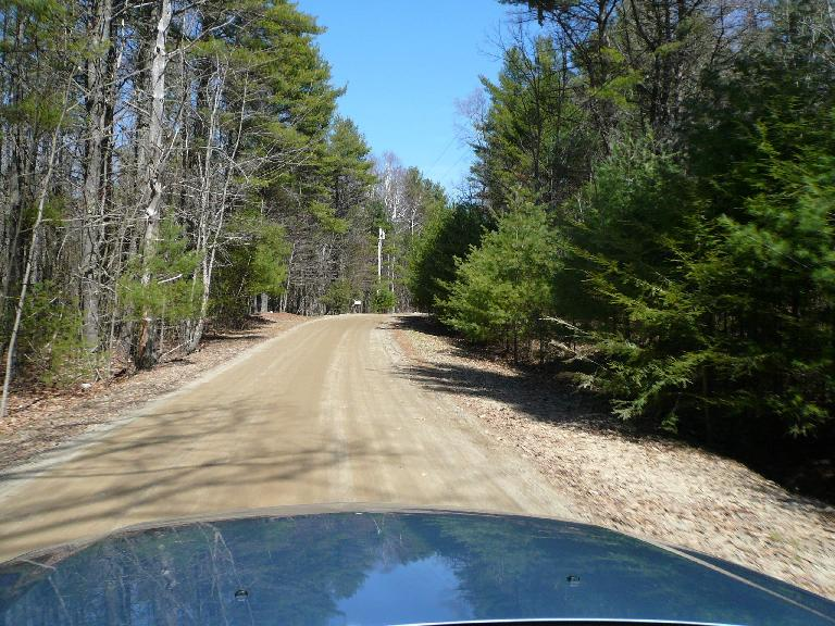 In Westport, Maine (southeast of Wiscasset), GPS failed me and took me onto this narrow, dirt road.