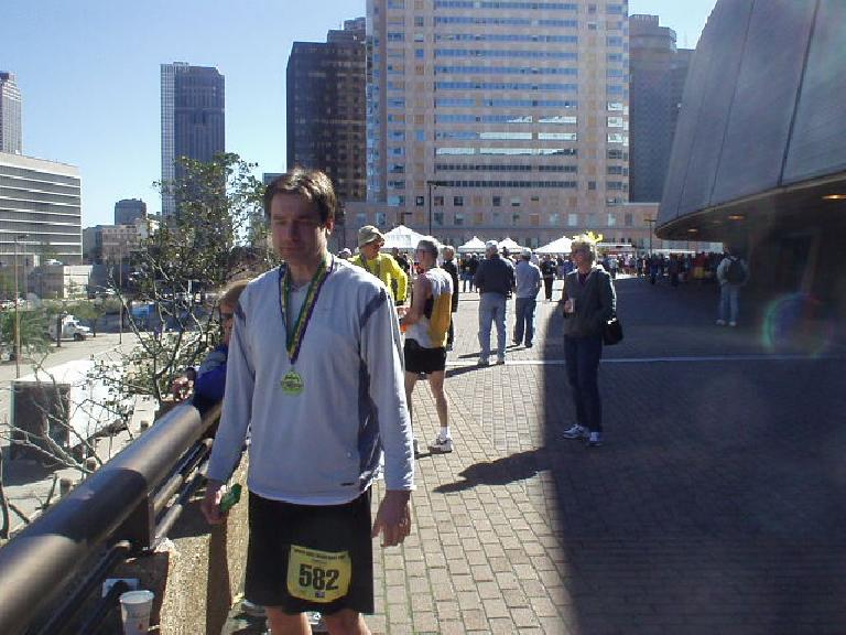 Craig did fantastic!  The day before he thought he'd have to wait until he turned 45 before he'd qualify for Boston, but he ended up doing so today at age 42 with a time of 3:20:08.  Congrats, Craig!