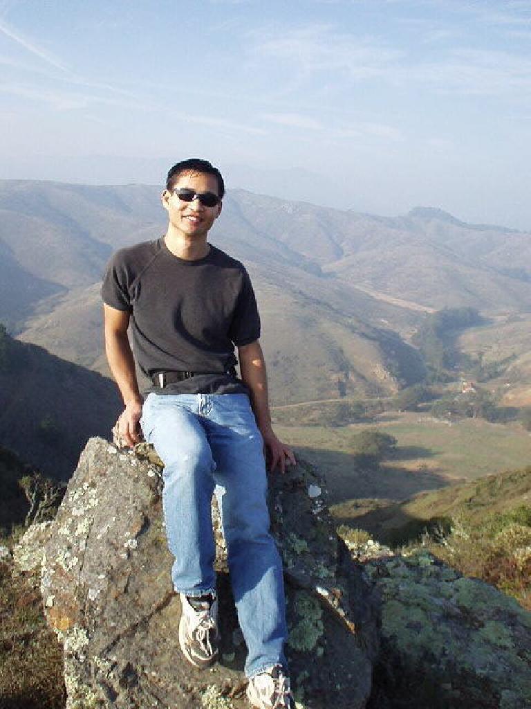 Felix Wong enjoying the view...