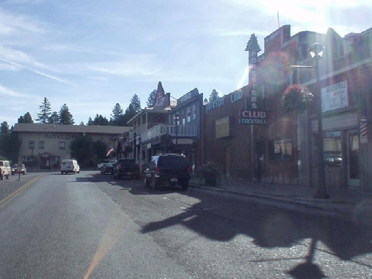Bad photo of downtown McCall.