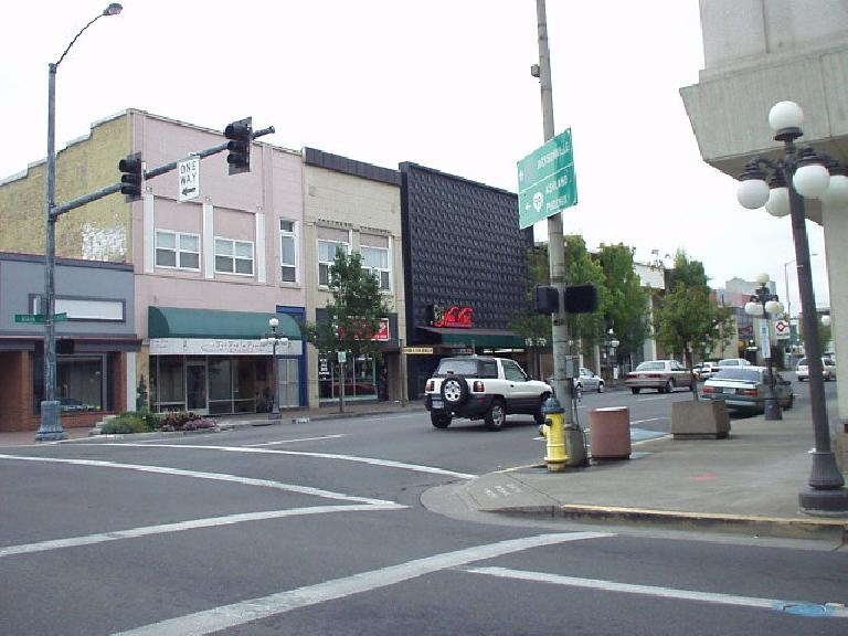Downtown Medford is older and not nearly as cool as Ashland's.  There are lots of car dealerships and motels nearby.