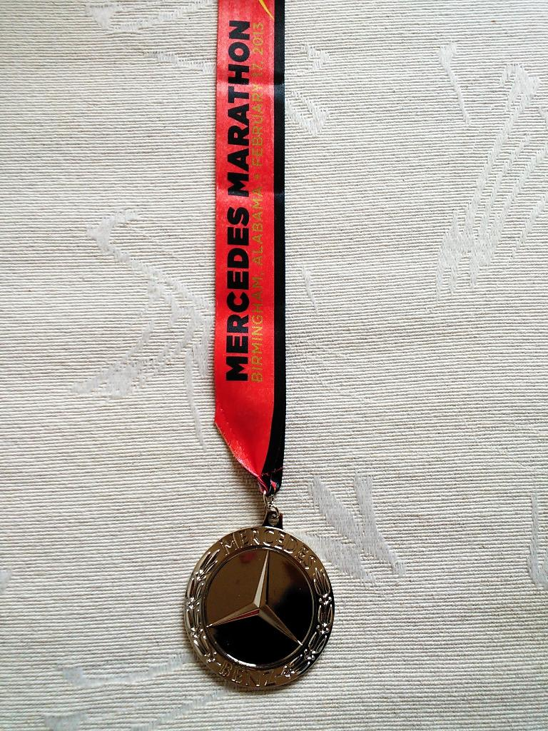 The medal for the Mercedes Marathon was Mercedes quality.